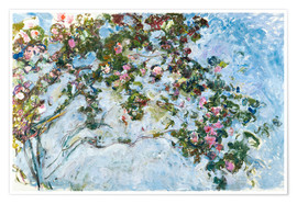 Poster  The Roses - Claude Monet