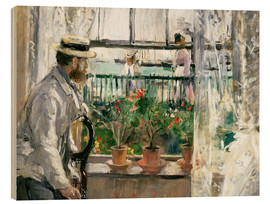 Wood print  Manet on the Isle of Wight - Berthe Morisot