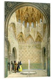 Acrylic print  The Hall of the Abencerrages, the Alhambra, Granada, 1853 - Léon Auguste Asselineau