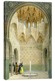 Canvas print  The Hall of the Abencerrages, the Alhambra, Granada, 1853 - Léon Auguste Asselineau