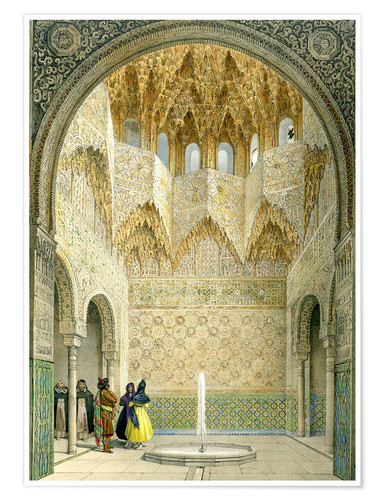 Premium poster The Hall of the Abencerrages, the Alhambra, Granada, 1853