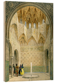 Léon Auguste Asselineau - The Hall of the Abencerrages, the Alhambra, Granada, 1853