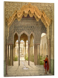 Acrylic print  The Court of the Lions, the Alhambra, Granada, 1853 - Léon Auguste Asselineau