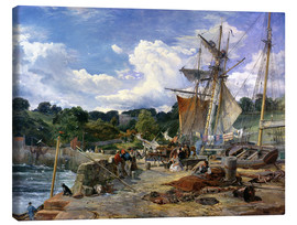 Canvas print  At the pier, Aberdour, Firth of Forth, 1865 - Samuel Bough