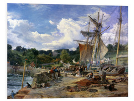 Foam board print  At the pier, Aberdour, Firth of Forth, 1865 - Samuel Bough