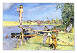 Premium poster  A Pleasant Bathing Place - Carl Larsson