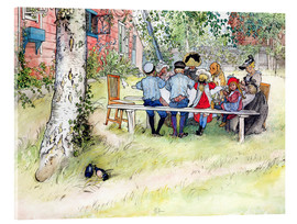 Acrylic glass  Breakfast under the Big Birch - Carl Larsson
