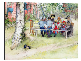Aluminium print  Breakfast under the big birch - Carl Larsson