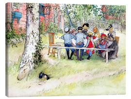 Canvas print  Breakfast under the big birch - Carl Larsson