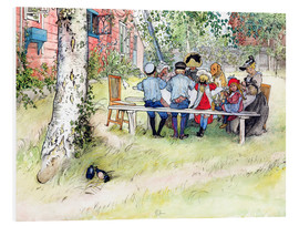 Foam board print  Breakfast under the big birch - Carl Larsson
