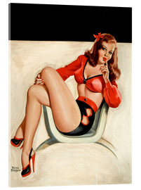 Acrylic glass  Pin Up - The Quiet - Peter Driben