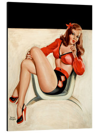 Aluminium print  Pin Up - The Quiet - Peter Driben