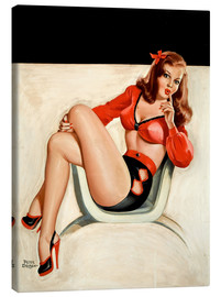 Canvas print  Pin Up - The Quiet - Peter Driben