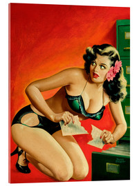 Acrylic print  Pin Up - Special Detective - Peter Driben