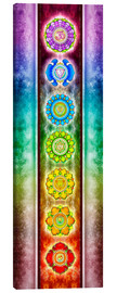 Canvas print  The seven chakras - Series III - Dirk Czarnota