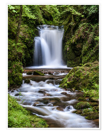 Premium poster Waterfall of Geroldsau, Black Forest