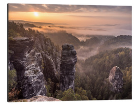 Alu-Dibond  Sunrise in the Saxon Switzerland - Andreas Wonisch