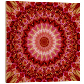 Wood print  Mandala forever in Love - Christine Bässler