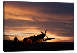 Canvas print  Spitfire Rest Easy - airpowerart