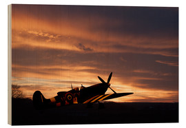 Wood print  Spitfire Rest Easy - airpowerart