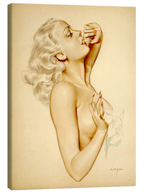 Canvas print  Girl with a Flower - Alberto Vargas