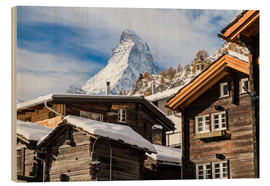 Wood print  Zermatt - Jan Schuler