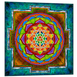 Foam board print  Intuition Sri Yantra - Artwork II - Dirk Czarnota