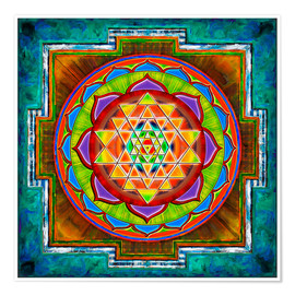Premium poster Intuition Sri Yantra - Artwork II