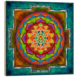 Wood  Intuition Sri Yantra - Artwork II - Dirk Czarnota