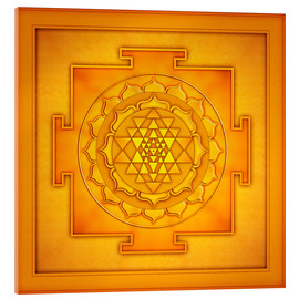 Acrylic glass  Golden Sri Yantra - Artwork II - Dirk Czarnota