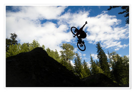 Poster Bike jump silhouette   Freestyle extreme sport