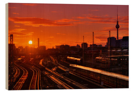 Wood print  Berlin Friedrichshain Sunset - Marcus Klepper
