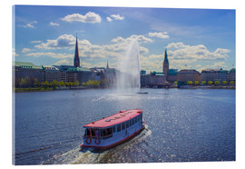 Acrylic print  Alsterdampfer on the Inner Alster Hamburg - Dennis Stracke