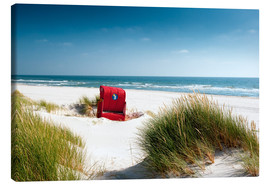 Canvas print  Red beach chair in dunes - Reiner Würz