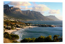 Acrylic print  South Africa Cape Town with beach landscape - John Morris