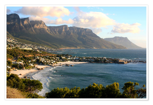Premium poster South Africa Cape Town with beach landscape
