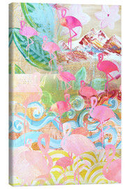 Canvas  Flamingo Collage - GreenNest