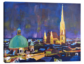 Canvas print  Vienna Skyline at Night with St Stephan - M. Bleichner