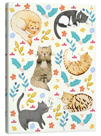 Canvas print  Cat family II - Judith Loske