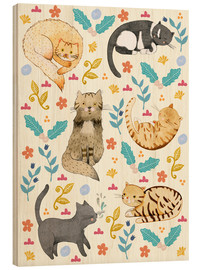 Wood  My Cats - Judith Loske