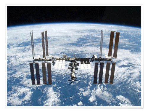 Premium poster Space station of Space Shuttle Atlantis