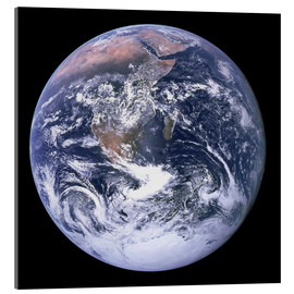 Acrylic glass  Earth view from Apollo 17 moon mission
