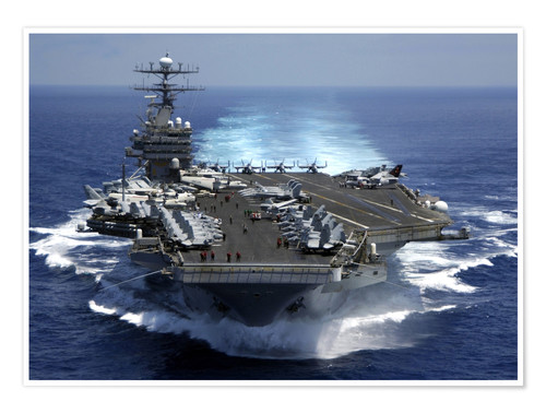 Premium poster Aircraft carrier USS CARL VINSON in the Indian Ocean