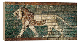 Wood  Lion mosaic at the temple of Babylon
