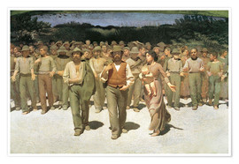 Premium poster  The fourth estate - Giuseppe Pellizza da Volpedo