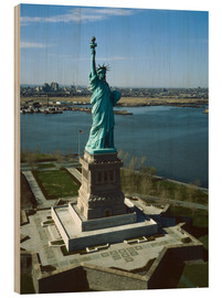 Wood print  Statue of Liberty in New York, 1978
