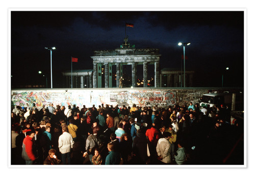 Premium poster Fall of the Berlin Wall