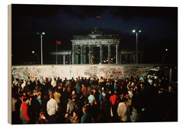 Wood print  Fall of the Berlin Wall
