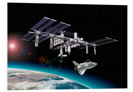 Foam board print  Space Station in Earth orbit - Leonello Calvetti