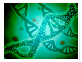 Premium poster  Microscopic view of DNA - Stocktrek Images